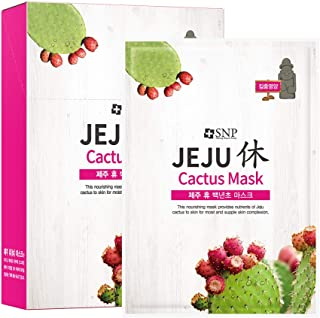 SNP - Jeju Rest Cactus Nourishing Korean Face Sheet Mask - 10 Sheet Pack