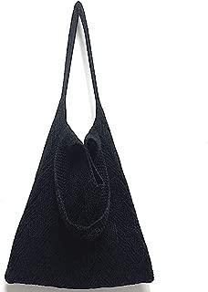 Winter Tough Soft Stretch Cable Knit Tote Bag Shoulder Bag Hobo for Women Girls