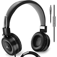 On Ear Headphones with Microphone, Wired Head Phones with Volume Control for Computer Ipad...