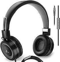On-Ear Headphones with Microphone - Lightweight Folding...