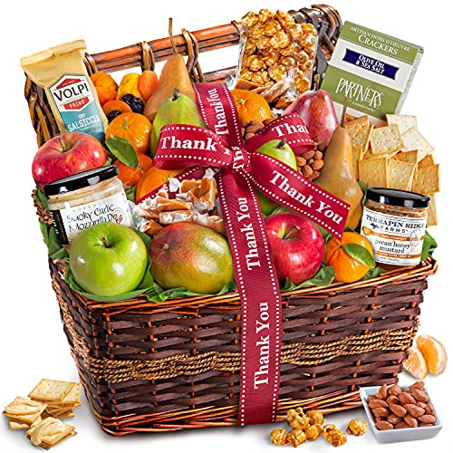Thank You Gourmet Abundance Fruit Basket Gift