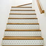 Playa Adhesivos para contremarches de escaleras, Vinilo, Gris, 100x 0,1x 19cm