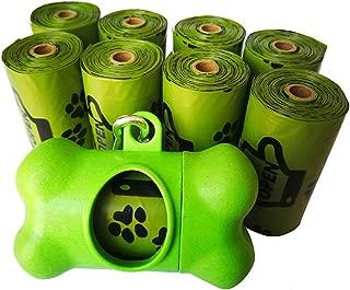 Ourhome520 Dog poop bag lavender scented, Refill Rolls, Leak-Proof Pet Waste Bags, Earth Friendly, Easy Tear-off, Includes Free Bone Dispenser-EPI Technology,Biodegradable, Pet Supply, Bulk roll,Clean