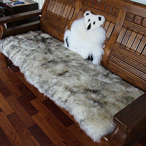 MERIGLARE Tappeto Scrostato Poltrona Zona Seduta Seggiolino Sedile Cuscino Pavimento Tappeto - Grigio + Bianco