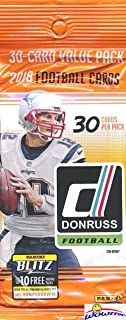 2018 Donruss NFL Football Factory Sealed Jumbo Fat Pack with 30 Cards Including (4) EXCLUSIVE PARALLELS! Look for Rookies & Autographs of Baker Mayfield, Saquon Barkley, Sam Darnold & More! WOWZZER!