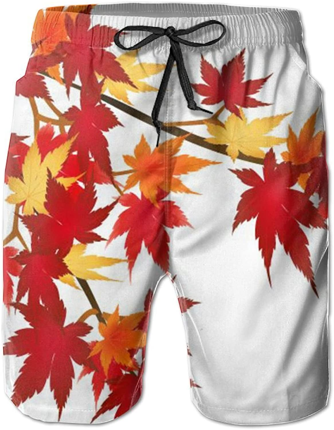 26c6963da980 CUTEDWARF Men's 3D Canadian Flag Maple Leaf Beach Casual Shorts Printing  Shorts nujexk293-Sporting goods