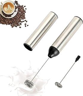 WIWONEY Oplaadbare melkopschuimer met twee snelheden en een micro-USB-kabel, elektrische melkopschuimer voor latte, cappuc...