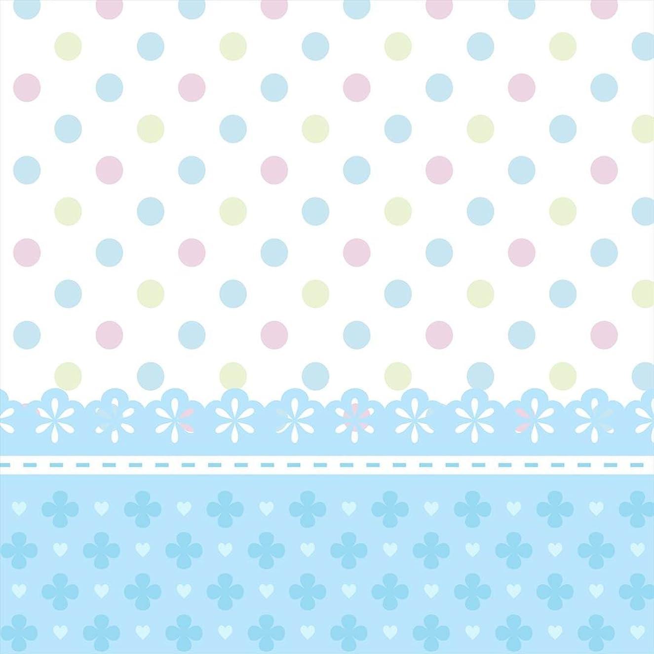 誰のフィヨルド誰のポスター ウォールステッカー 正方形 シール式ステッカー 飾り 60×60cm Msize 壁 インテリア おしゃれ 剥がせる wall sticker poster ラブリー ドット 水玉 水色 004937