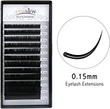 LASHVIEW Premium D Curl 0.15 Thickness Mixed Tray Eyelash Extensions Individual Natural Semi Permanent EyeLashes Soft Application-friendly Mink Lashes (Salon Perfect Use)