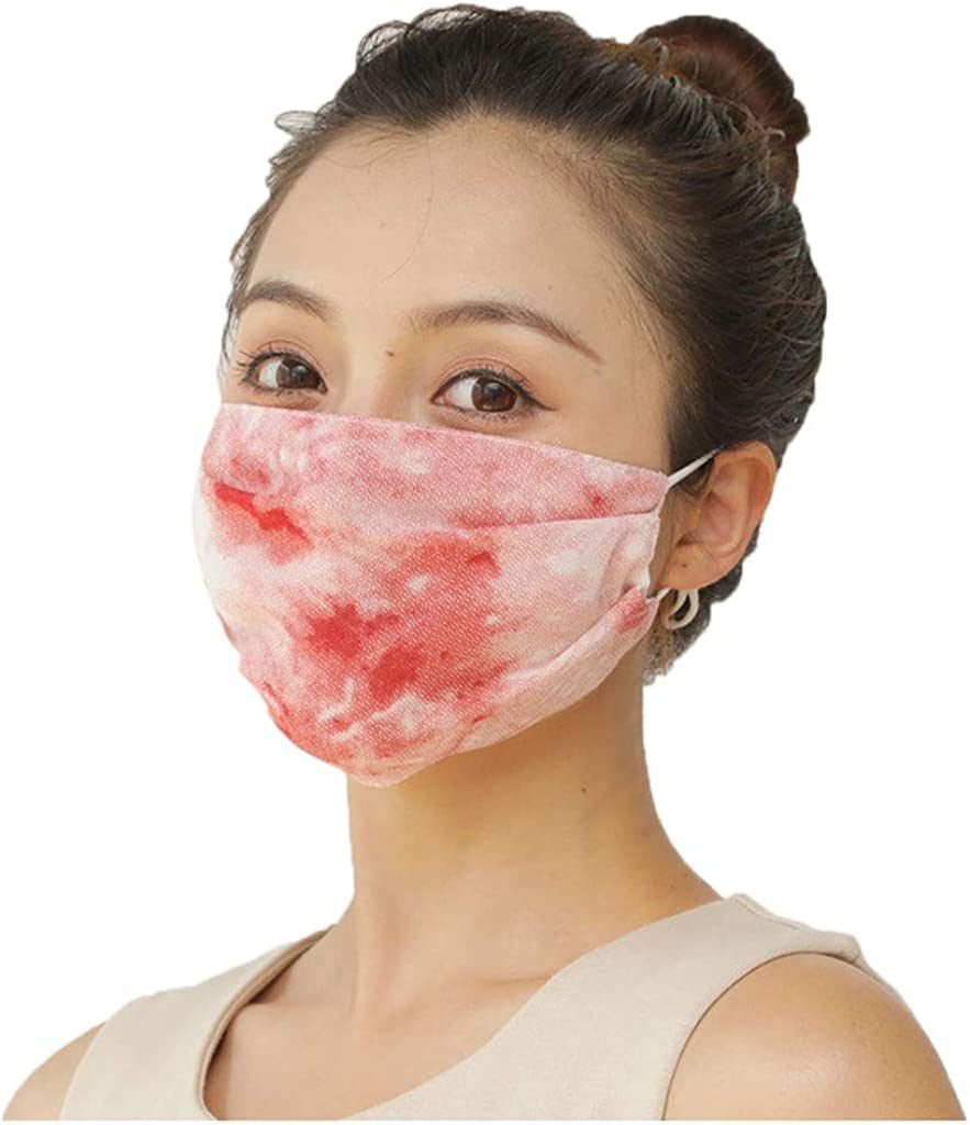 Womens Chiffon Printed Face_Mask Washable Reusable,Face Scarf Balaclava Face Covering Protection Dustproof for Adult
