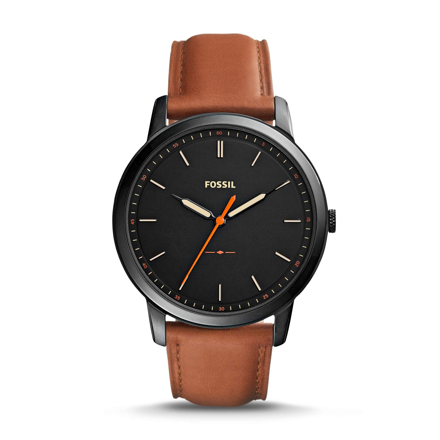 Fossil Minimalist Quartz Stainless Leather