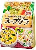 ひかり 6種の穀物と野菜を食べるスープ スープグラ かきたま&豆乳 1セット(4食×12袋)