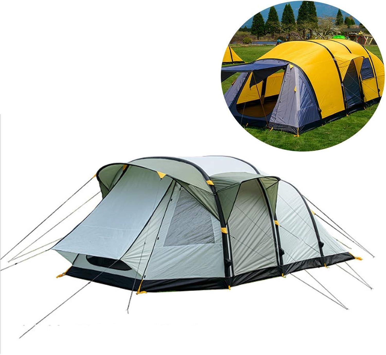 AWSCDCS Familienzelt - 3-4 Personen groes Zelt EIN Schlafzimmer und EIN Wohnzimmer aufblasbares Zelt Outdoor Familienzelt für mehrere Personen