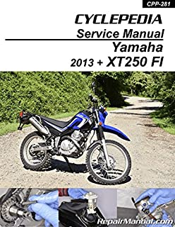 CPP-281 2013 - 2020 Yamaha XT250 Fuel Injected Motorcycle Print Service Manual by Cyclepedia