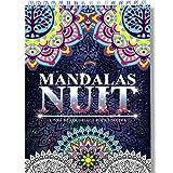 Coloriage Adulte Mandala de Nuit Anti-Stress: Le Premier Cahier de Coloriage Mandala avec Papier Noir Artiste et Reliure Spirale par Colorya