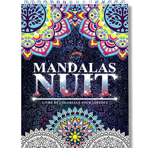 Coloriage Adulte Mandala de Nuit Anti-Stress: Le...