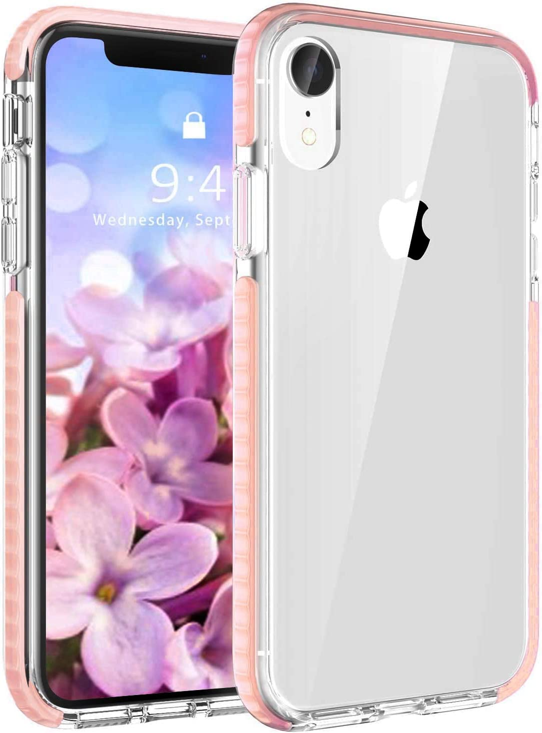 EFFENX iPhone XR Case Clear Pink -Thin Slim Anti-Yellow Anti-Scratches Protective Cover Heavy Duty Shockproof Bumper Case for iPhone XR 6.1inch