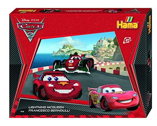 Hama 7938 - Bügelperlen Geschenkpackung Disney Cars, ca. 4000 Perlen, 3 Stiftplatten und weiterem Zubehör
