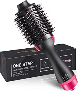 Twozilla One Step Hair Dryer and Volumizer/Hot Air Brush / 3 in1 Styling Brush Styler/Negative Ion Hair Straightener Curle...