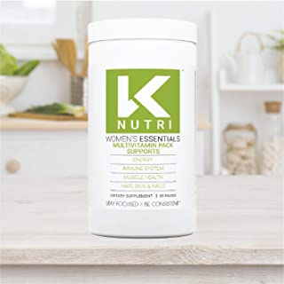 K Nutri Women's Essentials Whole Food Multivitamin Pack: Nourish Body and Mind With a Combo of Fruits, Veggies, Minerals and Vitamins Created – Full Support in One Packet - Womens Vitamins