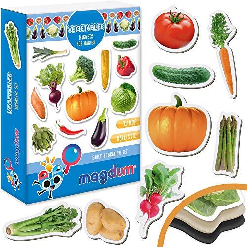 Kühlschrankmagnete kinder MAGDUM GEMÜSE Foto - 25 GROßE Kühlschrank Magnete für Kleinkinder - Kinder magnete - Magnete für magnettafel - Magnete kühlschrank - Magnete kinder - Magnetspiel - Spielküche