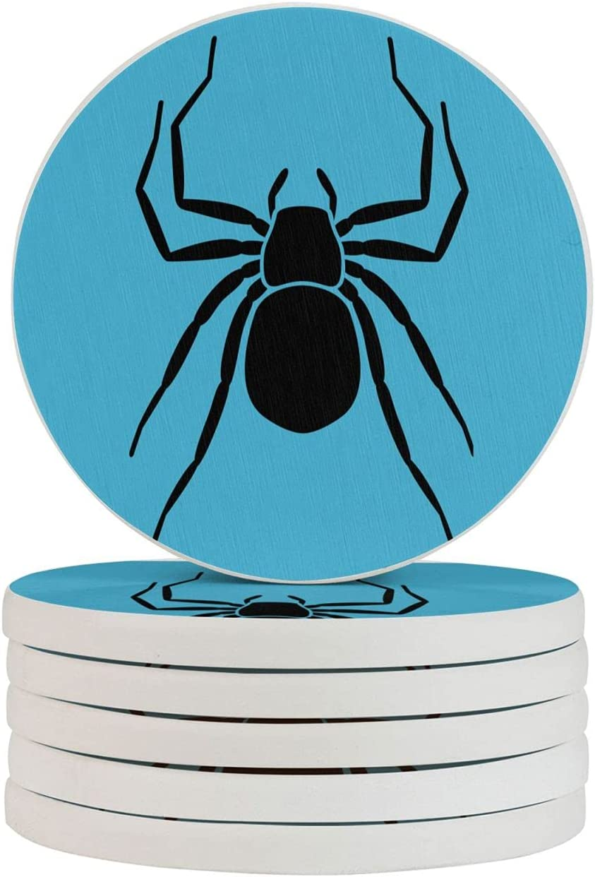 Blue Worm Absorbent Drink Coasters Max 67% OFF Cheap mail order specialty store Diatomaceous Round Coas Earth