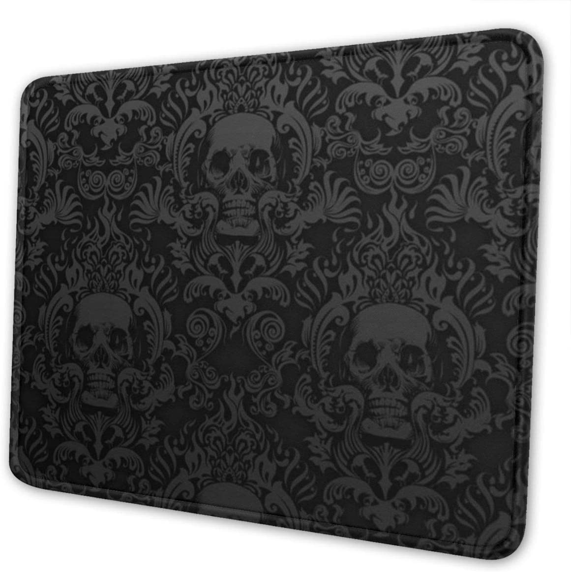 Gothic Boston Mall Wallpaper Skull Mouse Pad Non-Slip Spring new work Base Rubber Gamin with