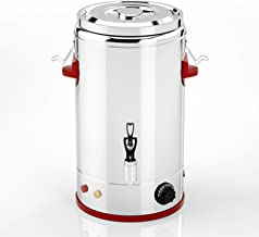 Grote capaciteit warme drank/zoete wijn dispenser theemok, 3-laags warm en koud warmer met kraan, antiroest roestvrij staa...
