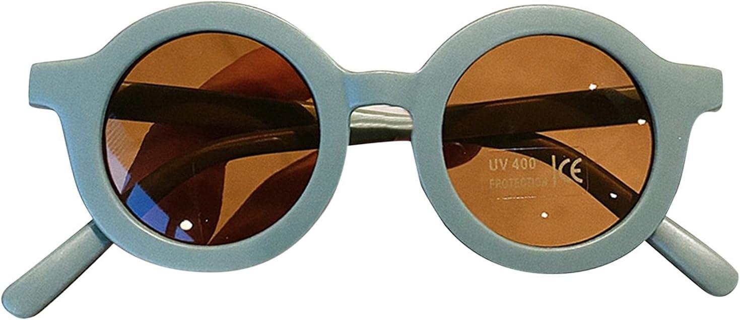 Gafas De Sol Con Montura Redonda Para Niños, Personalidad De Moda Retro Para Niños, Protección Solar Anti-UV, Gafas De Playa Para Exteriores, Accesorios Para Gafas De Fotografía De Fiesta Niñas Niños