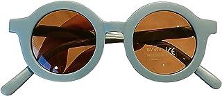 WANGQ - Gafas de sol para niños, gafas de sol bonitas, gafas de sol con montura redonda de tendencia, vasos de cartón animados para niños, gafas fotográficas personalizadas
