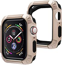 top4cus Environmental Anti-Scrathes Soft Flexible TPU 2 in 1 Lightweight Protective 40mm iWatch Case Protector Bumper Compatible Apple Watch Series 5 Series 4 - Gold