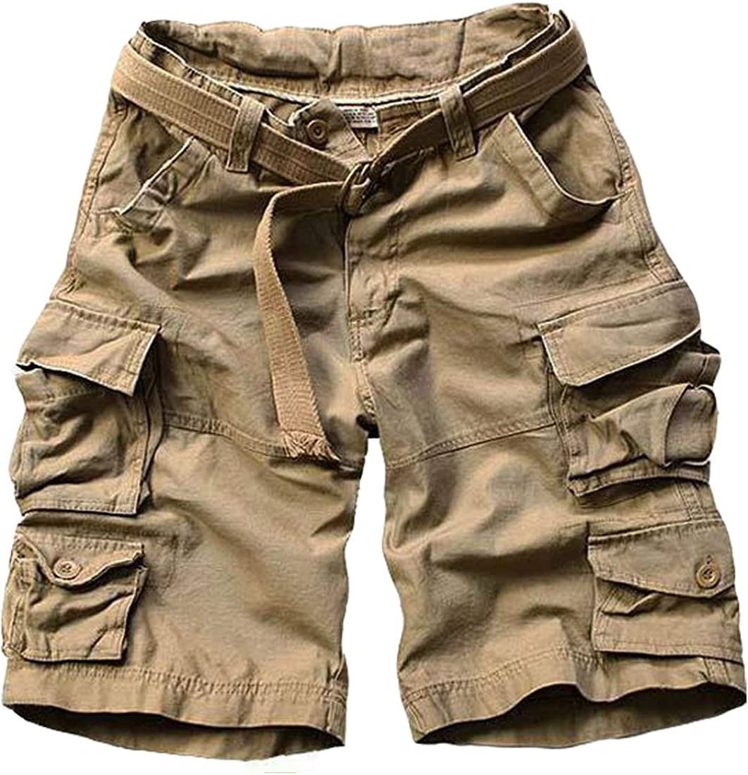 Men Shorts Cargo Lightweight Multi Pocket Loose Casual Outdoor Short Pants with Pockets