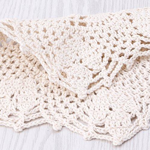 ジャッキー『手作りかぎ針編みフックフラワーレースコットンコースター』