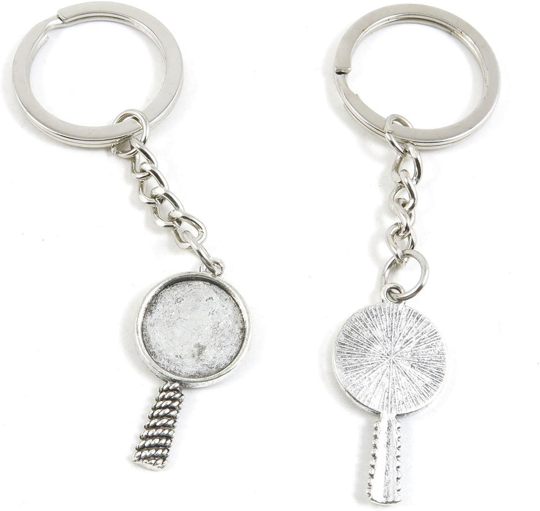 170 Pieces Fashion Jewelry Keyring Keychain Door Car Key Tag Ring Chain Supplier Supply Wholesale Bulk Lots O5DW6 Lollipop Round Cabochon Base Blank 15mm