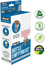 Flip-It! Bottle Emptying Kit - Flip Bottle Upside Down to Get Every Drop Out of Lotions, Shampoos and Conditioners 6 Pack - BPA Free - Dishwasher Safe