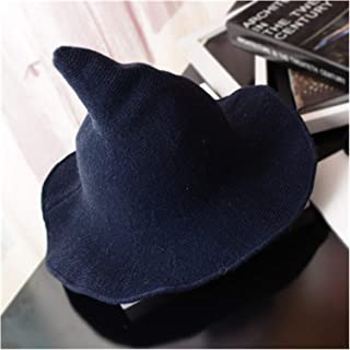 Hat Halloween witch hat Men's and Women's wool Knit Hat Fashion Solid Hat Diversified along the Hat Girlfriend Gifts (Colo...