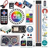 ideaspark Starter Kit for Arduino Kit ESP8266 LED Ring Strip Light RGB 24 Bits WS2812B WiFi/IR Control Sound/Light/Music Reactive,Analog Clock,Warning/Detection/Flash Light with Arduino IDE(Tutorial)