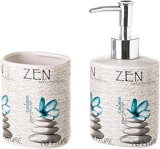Dream Hogar Juego baño Set 2 Vaso y dosificador Zen