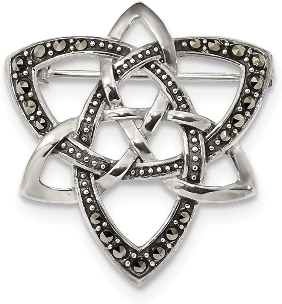 Ryan Jonathan Fine Jewelry Cheap mail order specialty store Sterling Very popular! Silver Marcasite Ce Antiqued