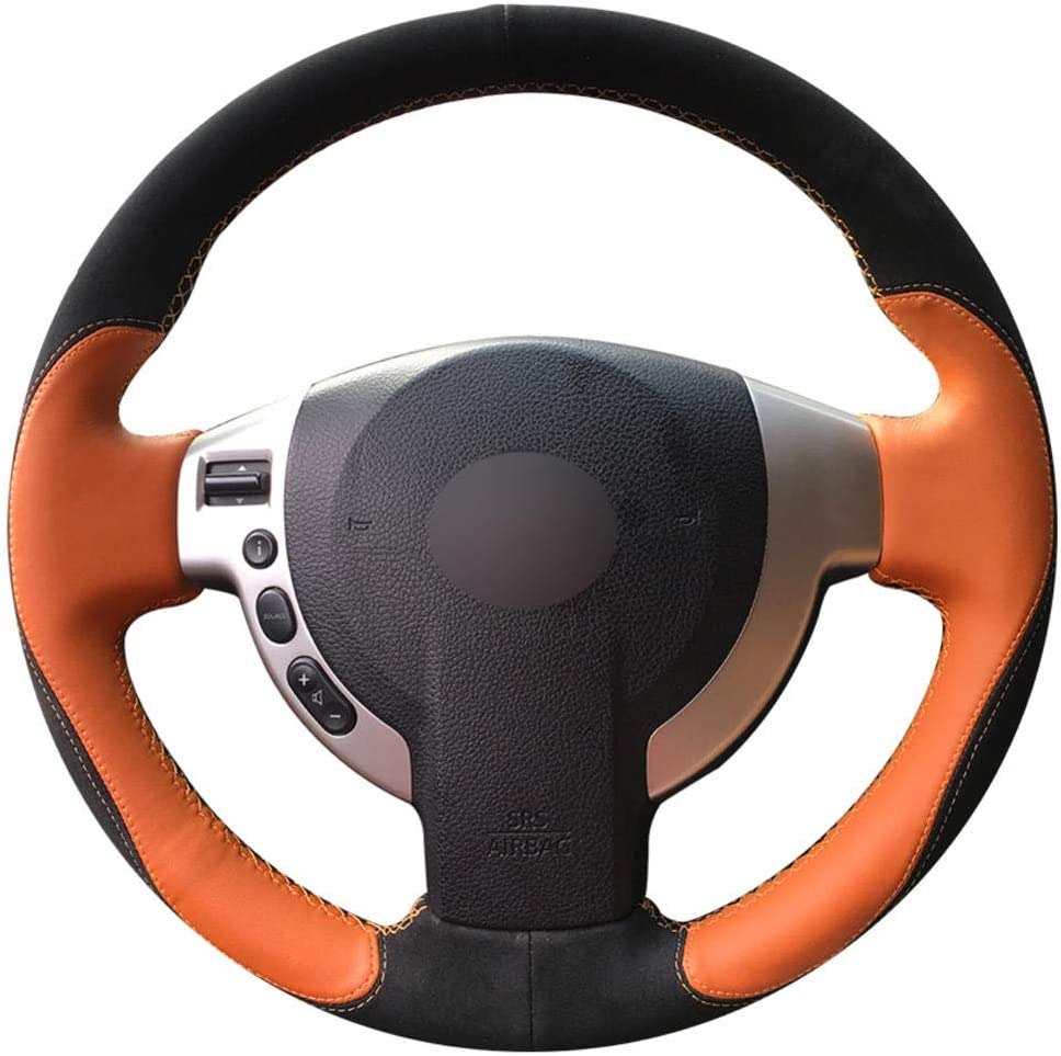 OPIUYS Car Steering Wheel Cover Leather Stee Surprise price Hand-stitchedOrange Ranking TOP3