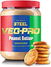 Steel Supplements Veg-PRO Pea Isolate Organic Vegan Protein Powder, Peanut Butter - Gluten Free, Dairy Free, Soy Free, Non...