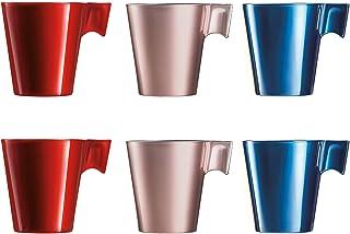 Luminarc Flashy kaffemugg med glashandtag för mikrovågsugn 22 cl