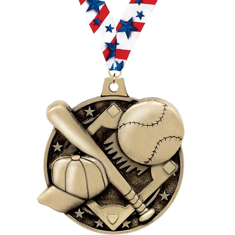 Crown Awards Baseball Medal - 2