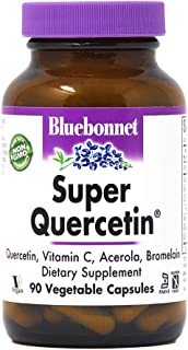 Bluebonnet BB-553 Nutrition Super Quercetin Vegetable Capsules, Vitamin C Formula, Best for Seasonal & Immune Support, Non...