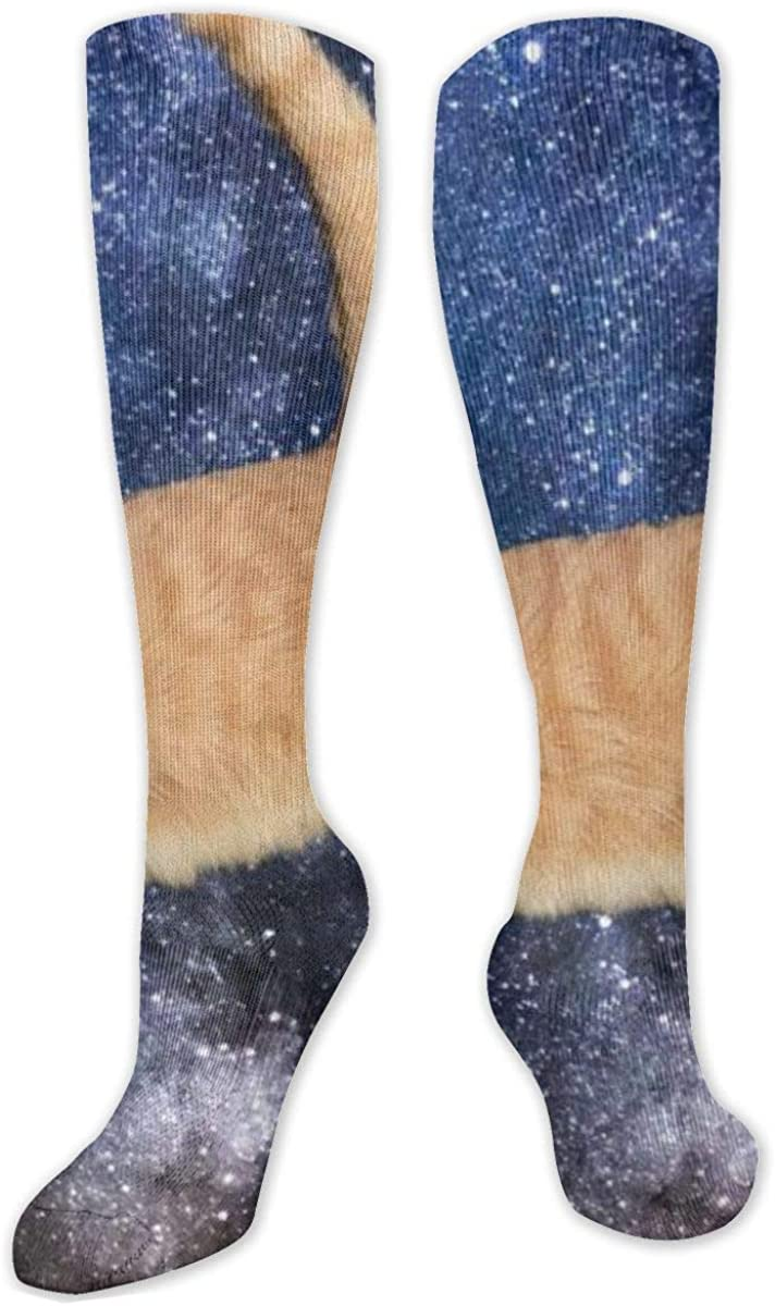 Space Cats Knee High Socks Leg Warmer Dresses Long Boot Stockings For Womens Cosplay Daily Wear