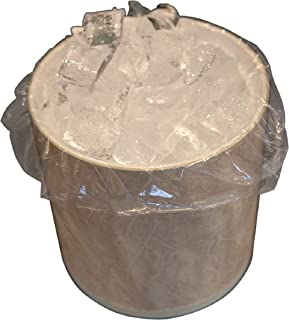 APQ Pack of 100 Clear Ice Bucket Liners 6 x 6 x 12. Food Grade Plastic Ice Bags 6x6x12. FDA, USDA Approved, 1 mil Thick. Transparent Polyethylene Liners for foodservice, Restaurants, Hotels or Home.