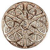 styleBREAKER Ornamento Magnetico Rotondo con Strass Ornamento con Nodo Celtico per Sciarpe, Scialli o Poncho, Spilla, da Donna 05050038, Colore:Rosa Oro