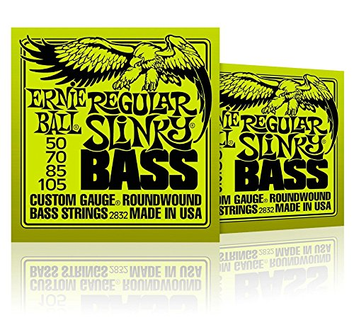 Ernie Ball 2832 Regular Slinky Round Wound Cuerdas Graves (2 unidades)