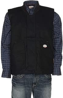 Rasco FR Mens Black Duck Work Vest, Black