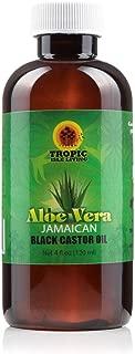 Tropic Isle Living Jamaican Black Castor Oil Aloe Vera-4oz Plastic PET Bottle